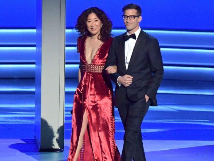 Sandra Oh und Andy Samberg - Golden Globes